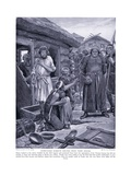 Overtaxed Subjects Ejected from their Homes, 1920's Giclee Print by Richard Caton II Woodville