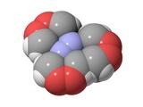 HMTD Explosive, Molecular Model Prints by Laguna Design