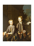 Double Portrait of Henry Penruddocke Wyndham and His Brother Wandham, Three-Quarter-Length, 1743 Giclee Print by Joseph Highmore