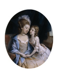 Portrait of a Mother and Child Giclee Print by Hugh Douglas Hamilton