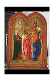 Altar Wing with Five Saints, C.1445 Giclée-tryk af Neri Di Bicci