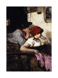 The Gypsy Couple, 1887 Giclee Print by Alfred Roll