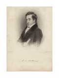 John Hobhouse, 1st Baron Broughton, English Politician and Memoirist Giclee Print by James, The Elder Hopwood