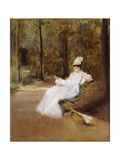 Sitting on a Bench; Sur Le Banc, C.1848 Giclee Print by Eva Gonzales