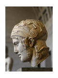 Head of a Statue of Ares. Roman Sculpture after Original of About 430 BC. Glytothek. Munich Giclee Print