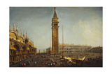 The Piazza San Marco, Venice, from the Torre Dell'Orologio, C.1737-9 Giclee Print by Michele Marieschi