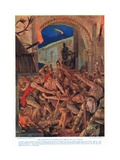 The Last Feast of Robert De Comines Ad1069 , 1920's Giclee Print by Richard Caton II Woodville