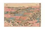 Fish Market by River in Edo at Nihonbashi Bridge Giclee Print by Katsushika Hokusai