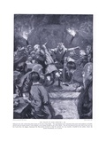 The Death of King Edmund I Ad946, 1920's Giclee Print by Frank Gillett