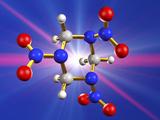 RDX Explosive, Molecular Model Fotografisk tryk af Laguna Design