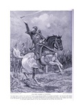 The First Charge at Hastings , 1920's Giclee Print by Richard Caton II Woodville