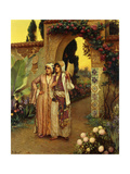 In the Garden of the Harem Giclee Print by Rudolphe Ernst