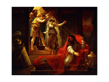 David Playing the Harp for King Saul Giclee Print by Baron Antoine Jean Gros
