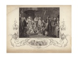 King George III Receiving the Turkish Ambassador and Suit Giclee Print by Mather Brown