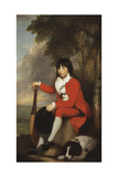 Portrait of Master Day, Seated Full Length in a Red Jacket and Breeches, and a White, Frilled… Giclee Print by Gilbert Stuart