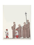 On the Way to Mass Giclee Print by Georges Barbier