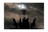 Quadriga by Johann Gottfried Schadow (1764-1850). Backlight. Brandenburg Gate. Berlin Gicleetryck