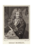 Portrait of Nicolas Boileau-Despreaux Giclee Print by Hyacinthe Rigaud