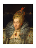 Portrait of Queen Elizabeth I, Bust Length Giclee Print by Marcus, The Younger Gheeraerts