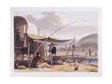 African Scenery and Animals at the Cape of Good Hope, 1804-5 Giclée-tryk af Samuel Daniell