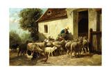 Returning Home Gicléedruk van Charles Emile Jacque