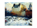 A View of the Plaza from Central Park Giclee Print by Arthur Clifton Goodwin