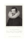 Portrait of Sir John Harington Giclee Print by Hieronymus Custodis