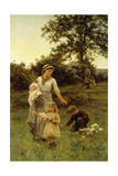 The Garland Giclee Print by Frederick Morgan