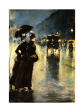 Nactbeleuchtung, 1889 Giclee Print by Lesser Ury