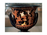 Greek Art. Krater Depicting Parties Idle. Dated to 4th Century BC. National Archaeological… Giclee Print