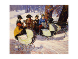 Knitters, High Bridge Park Giclee Print by George Luks
