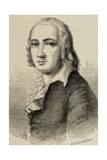 Johann Christian Friedrich Holderlin (1770  1843). German Lyric Poet. Engraving Giclee Print by Adolf Neumann