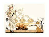 Roasting on a Spit Giclee Print by Georges Barbier
