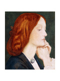 Portrait of Elizabeth Siddal, in Profile to the Right Giclee Print by Dante Gabriel Rossetti