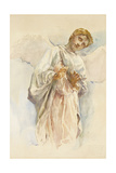 Adoring Angel - Study for the Ascension Mural, 1887 Giclee Print by John La Farge or Lafarge