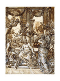 Cybele before the Council of the Gods Giclee Print by Pietro Da Cortona