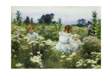 Among the Wildflowers Giclee Print by Charles Courtney Curran