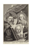 Portrait of Jan De Beijer, Jacobus Buys and Hendrik Pothoven Giclee Print by Hendrik Pothoven