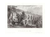 The Pont Du Gard, Near Nismes Giclee Print by Thomas Allom