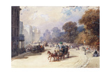 A Carriage in a London Street Giclee Print by Eugene-Louis Lami