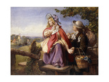 Rustic Lovers Crossing a Style, C.1860 Giclee Print