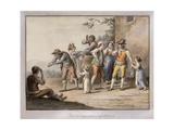 Neopolitans Gesturing to a Deaf Mute Person; Gesti Mutoloparlanti Napolitani, 1815 Giclee Print by Saviero Xavier Della Gatta