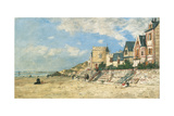 Malakoff Tower and the Shore at Trouville; La Tour Malakoff Et Le Rivage a Trouville, 1877 Giclee Print by Eugène Boudin