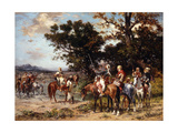The Start for the Hunt Giclee Print by Georges Washington