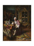 The Art Collector Giclee Print by Johann Hamza