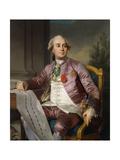 Portrait of Charles-Claude De Flahaut De La Billarderie, Comte D'Angiviller (1730-1809), Seated… Giclee Print by Joseph Siffred Duplessis