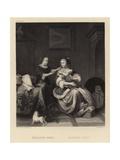 Domestic Scene Giclee Print by Pieter van Slingelandt