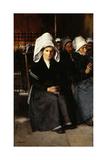 Breton Woman at Prayer Giclee Print by Luis Jimenez Y Aranda