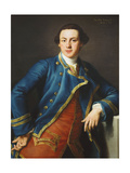 Portrait of Sir John Armytage, 2nd Bt. (1732-1758), Half-Length, in Blue Coat and Crimson… Giclee Print by Pompeo Batoni