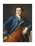 Portrait of Sir John Armytage, 2nd Bt. (1732-1758), Half-Length, in Blue Coat and Crimson… Giclee Print by Pompeo Girolamo Batoni
